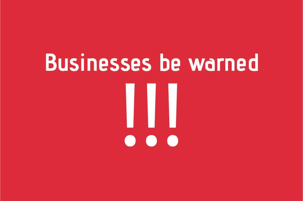 Businesses Be Warned: Protect Your Business or Face a HUGE Fine in 2018